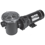 Hi-Flo Side Discharge 48-Frame 1-1/2HP Dual-Speed Above Ground Pump with 3' Nema Cord, 115V