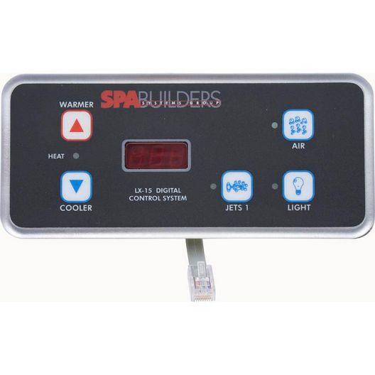 Spa Builders - Topside Control LX-15 Sb 5B 1P 2K No/RMT - 308408