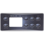 Balboa  Serial Deluxe Panel Overlay Deluxe Panel LCD (1 Pump Blower Auxiliary Light)