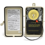 Single Time Clock 125V Timer with Heater Delay with Metal Enclosure