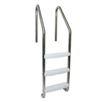 S.R Smith  23in Commercial 3-Step Ladder with Cross Brace and Stainless Steel Treads (.065in.)