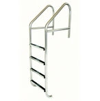 29in. Commercial 4-Step Ladder with Stainless Steel Treads (.065in.)