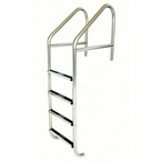 35in. Commercial 4-Step Ladder with Stainless Steel Treads (.145in.)