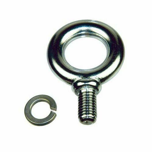 Eyebolt 1/2 Cp Brass With Lock Washer