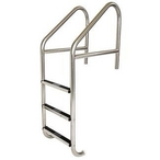 24in. Commercial 3-Step Ladder with Cross Brace Marine Grade