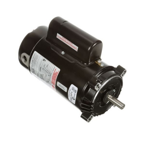 Century A.O. Smith - 56C C-Face 1/2 HP Single Speed Full Rated Pool Filter Motor, 8.0/4.0A 115/230V