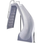 Wild Ride Right Turn Complete Pool Slide Gray