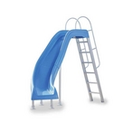 Inter-Fab - City 2 Left Turn Complete Pool Slide, Blue - 311592