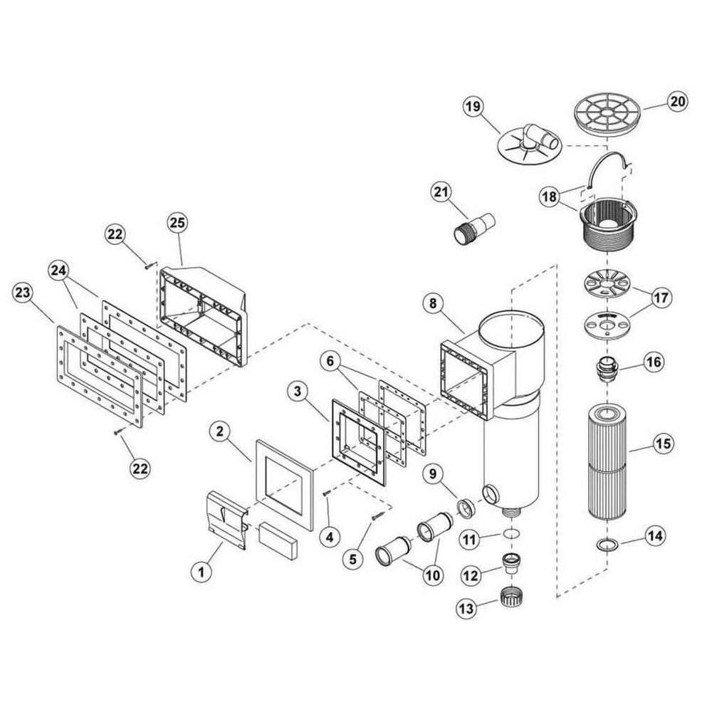 Flo-Pro Skim Filter Skimmer Parts image