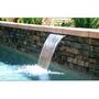 "Custom Cascade 1000 Series Waterfall ABS Plastic Tan 60"" with 1-1/2"" Standard Lip"