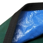 Ultralight Solid Safety Cover 18' x 36' Rectangle with Right Side Step, Blue - 20 yr Warranty