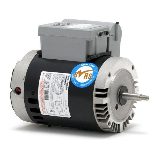 Guardian 56J C-Face 1 HP Single Speed SVRS Pool and Spa Motor, 18.6/9.3A 115/230V