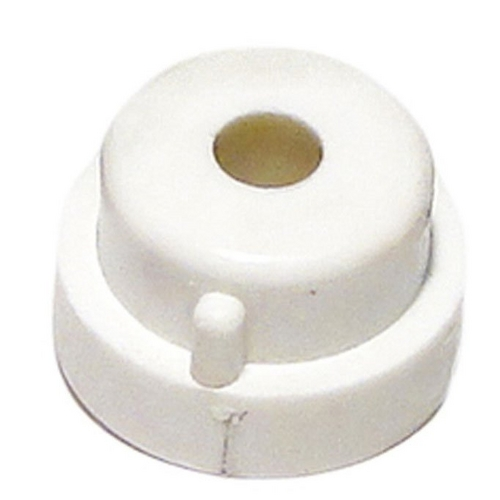 Aquabot - Pool Cleaner Bushing (White, Plastic, with Hole, Fastens to Side Plate, for Non-Sliding Fixed-Wheel Axle)