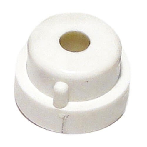 Aquabot - Pool Cleaner Bushing (White, Plastic, with Slot, Fastens to Side Plate, for Sliding Free-Wheeling Axle)