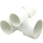 Waterway - Power Storm Gunite 1-1/2in. Slip Air x 2in. Water Slip Tee Body Assembly, White - 314745