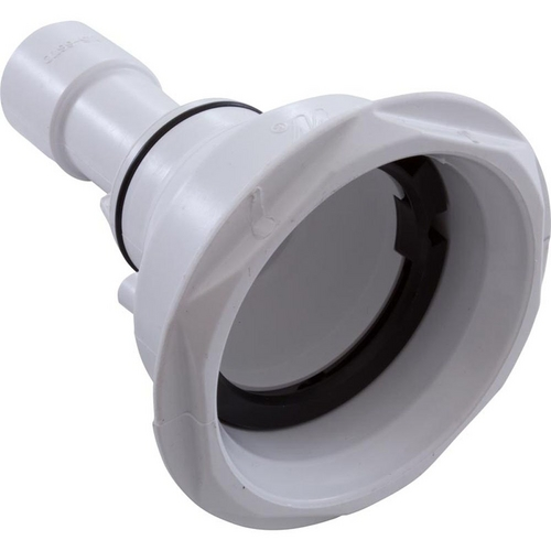 Waterway - Power Storm Gunite Wall Fitting with Retainer Ring Assembly, White