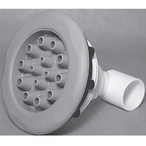 Waterway - Master Massage Adjustable 1-1/2in. Slip x 1/2in. Slip Five-Scallop Spa Jet Assembly, Gray - 314783
