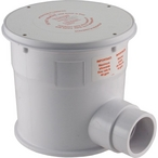 Newlt Molded Concrete Floor Canister Only, White