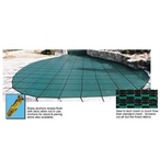 18' x 36' Rectangle Safety Cover with Center End Step, Blue, 20-Year Mesh