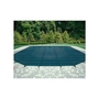 18' x 36' Rectangle Safety Cover with Center End Step, Green, 20-Year Mesh