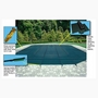 16' x 32' Rectangle Safety Cover with Center End Step, Green 12-Year Mesh