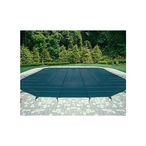 16' x 36' Rectangle Mesh Safety Cover, Green, 20-Year Warranty