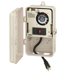 Portable 24-Hour Two Circuit Above Ground Pool Timer with 120VAC Plug, GFCI and Photo Control