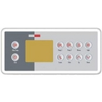 TSC-4 Ten Key Topside Keypad Bundle with Three Pump Overlay for M-Class Spa Control Systems