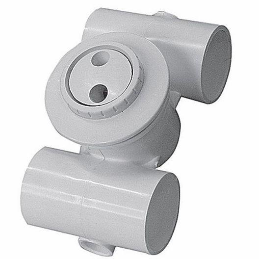 Hydro Gunite Spa Jet 1-1/2in. Slip x 1-1/2in. Slip Roto Eye, White