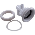 Whirlpool 1-1/2in. Slip x 1/2in. Slip Jet Body Assembly with Flat Gasket