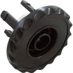 Waterway - Mini Gunite Directional Scalloped Spa Jet Internal, Black - 317887