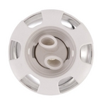 Poly Storm 3-5/8in. Plastic/Stainless Steel 6-Spoke Twin Roto Spa Jet