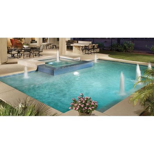 A&A Manufacturing  Splash Down Single Stage 22in Water Jet Fountain for Concrete Pools Gray