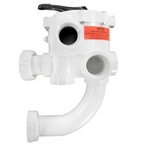 Multiport ABS Six Position Valve with Piping - 1-1/2in. Port (Black)