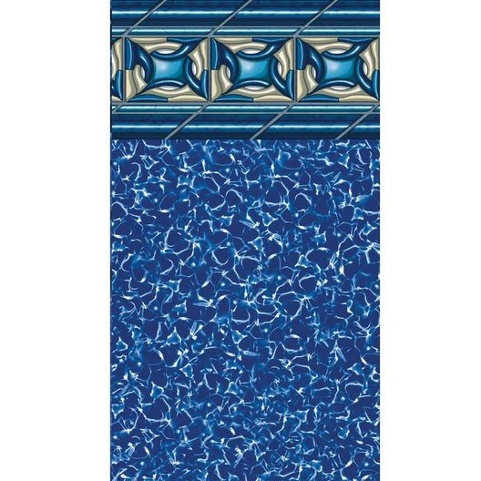 Beaded 24' Round Pacific Diamond 52 in. Depth Above Ground Pool Liner, 20 Mil