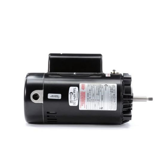 56J C-Face 1 HP Single Speed Up Rated Pool Filter Motor, 11.0/5.5A 115/230V