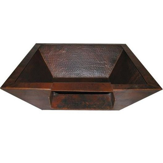 Manual Three Bowl 29in. Corinthian Square Copper Fire & Water Bowls