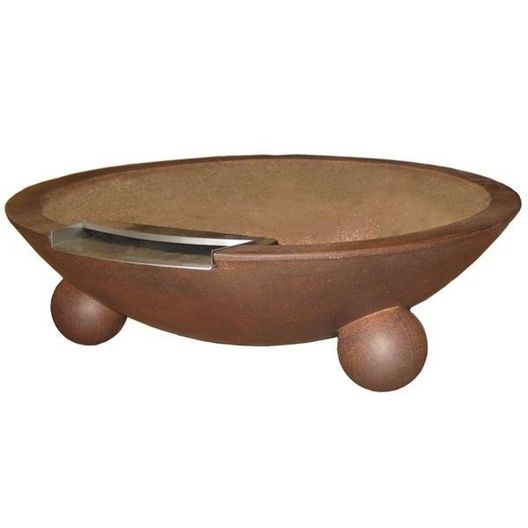 Manual Three Bowl 32in. Biltmore Concrete Fire & Water Bowls