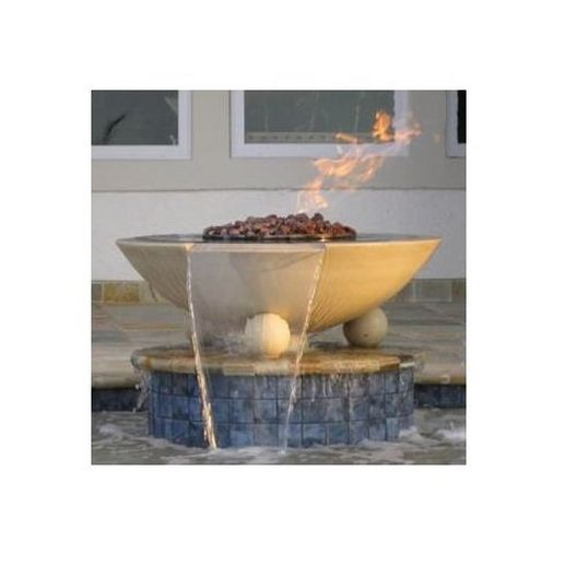 Manual One Bowl 32in. Biltmore Concrete Fire & Water Bowls