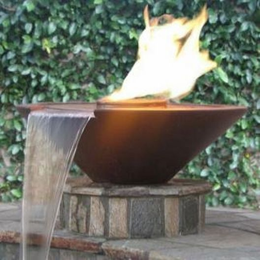Manual Two Bowl 31in. Essex Concrete Fire & Water Bowls