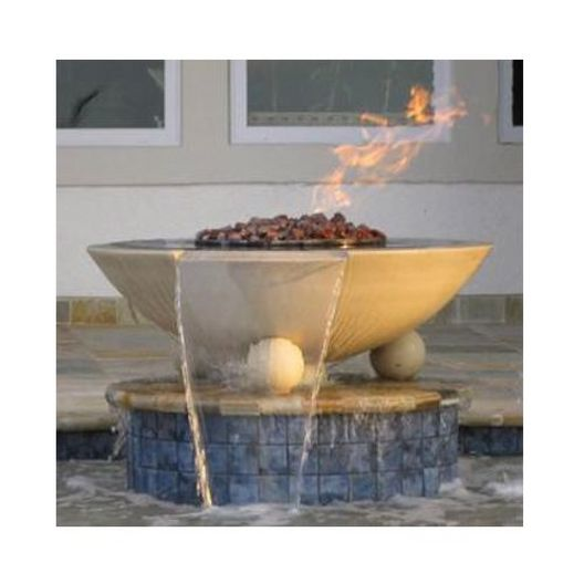 Automated Two Bowl 32in. Biltmore Concrete Fire & Water Bowls