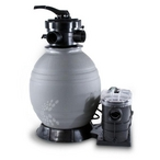 """QuickShip Deluxe 22"""" Sand Filter with 1-1/2 HP Pump for Above Ground Pools"""