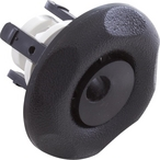 Mini Whirly Snap-In Spa Jet Eyeball Internals with Five-Scallop Textured Escutcheon, Black