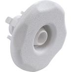 Mini Adjustable Snap-In Spa Jet Eyeball Large Five-Scallop Textured Escutcheon, White