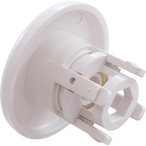 Mini Whirly Snap-In Spa Jet Eyeball Internals with Smooth Escutcheon Assembly, White