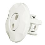Waterway - Mini Adjustable Spa Jet Pulsator Eyeball Assembly, White - 319904