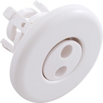 Mini Pulsator Snap-In Spa Jet Eyeball Internals with Smooth Escutcheon Assembly, White
