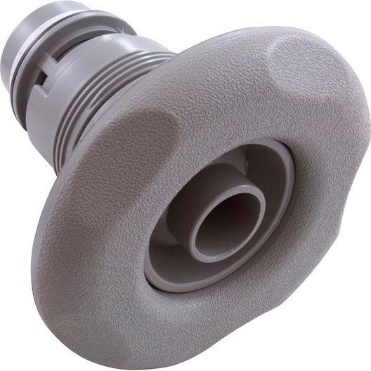 Poly Adjustable Spa Jet Eyeball Internals with Five-Scallop Escutcheon, Gray