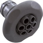 Poly Massage Spa Jet Internals with Large Face Five-Scallop Escutcheon, Gray