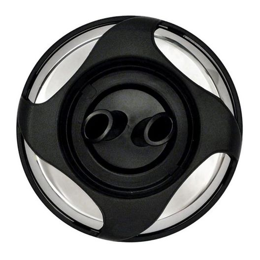 Power Storm Twin Roto Snap-In Spa Jet Internals with Four-Swirl Metal Escutcheon, Black